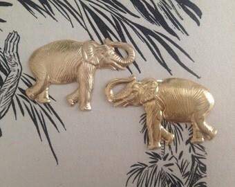 Small Beautiful Brass Elephant (1 pair)