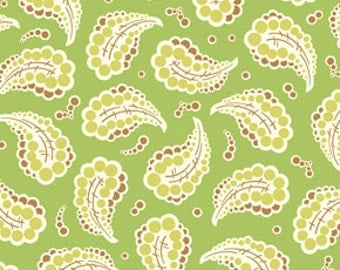 42052 -   Heather Bailey Freshcut collection Dotted paisley  in green  PWHB024  - 1 yard