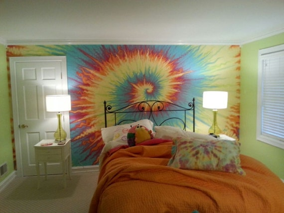 about tie dye wall - photo #4