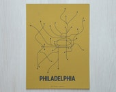 Philadelphia Sm Screen Print - Ochre/Dark Gray