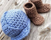 Baby Boy Hat, Baby Girl Hat, Crochet,  NEWBORN,  Hard Hat, Work Boots, Photography Prop Oilfield, Roughneck, Roustabout