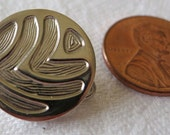 Silver Metal Vintage Buttons with a nice pattern.  UNK13.7-7.11.1