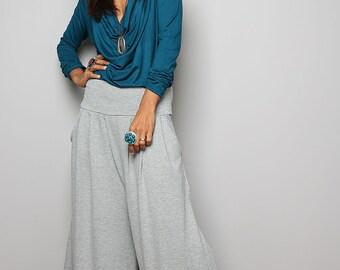 Wide Leg Pants  -  Long Light Comfy Pants : Urban Chic Collection no.22