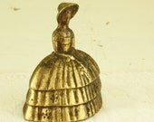 """Vintage Brass Bell - Southern Belle Bell - Southern Lady Bell - """"Gone with the wind"""" Bell - Vintage Lady Bell"""