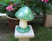 Concrete mushroom toadstool statue garden decor yard art