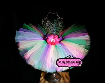Fairytale Princess Tutu -newborn tutu, toddler tutu, candy land tutu, dress up tutu, birthday tutu, dance tutu, pageant tutu, wedding tutu
