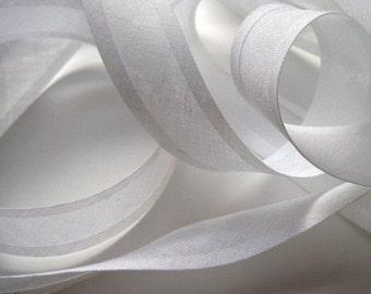 25mm bias binding tape, 10m length, white