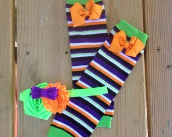 Halloween Leg Warmers with ruffles