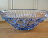 A Vintage Blue Glass Candy Dish
