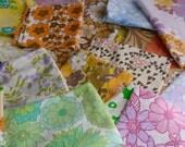 Vintage Sheet Fabric Bundle Floral 1970's 1kg