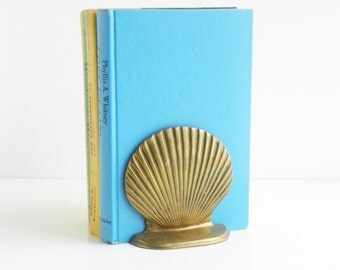 Vintage Brass Shell Bookend