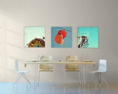canvas art // huge wall art // canvas art set - set of three Santa Cruz photography art on canvas