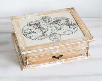 Multifunctional Tea Wooden Box Tea Box Jewelry box Jewelry Organizer Jewelry Storage Jewelry Holder Jewelry Cabinet