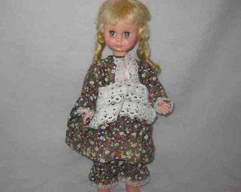 """Sweet Vintage 16"""" 1963 UNEEDA Plastic Girl DOLL"""