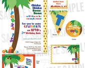 Chicka Chicka Boom Boom Inspired Party - Complete Print-It-Yourself Package