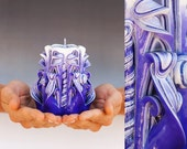 Carved Candle For Valentines Day Gift Ideas For Women  and For Birthday Gifts For Her And For Him