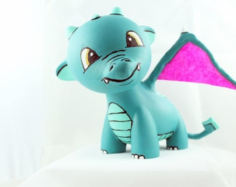 """SALE: Little Dragon Raffy - Custom 4"""" Munny"""