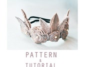 Feather and Flower Crown PDF Pattern & Tutorial