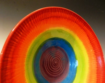 Textured Rainbow Bowl