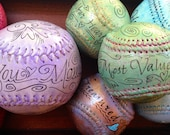 Hand Painted Baseballs .Tossed and found