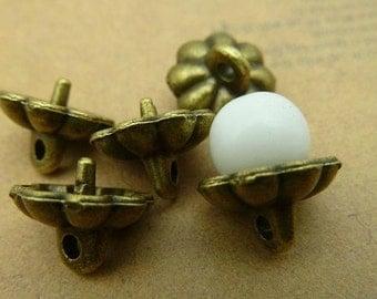 30pcs 9x10mm The Cap  Buckle Antique Bronze Retro Pendant Charm For Jewelry Pendant C2926