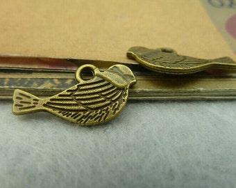 50pcs 11x20mm The Bird Antique Bronze Retro Pendant Charm For Jewelry Bracelet Necklace Charms Pendants C3859