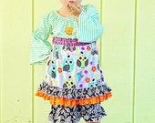 Girls Custom Boutique She's A Hoot Fancy OWL3 pc fall set 12-18 months thru 6x
