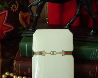 Ultra RARE Vintage GUCCI Incense Trinket Jewelry Accessory Stash Decor Box GG Holiday Gift