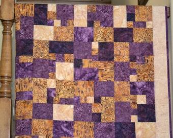 Batik Table Topper/Wall Hanging/Lap Quilt