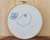 Tweet . Embroidery Hoop