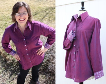 New Style Womens Blouse Made to Order in your color choice