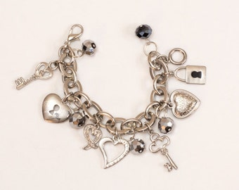 Chunky Silver Charm Bracelet