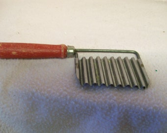 French Fry Cutter Red or Green Wood Handled Retro 1950s