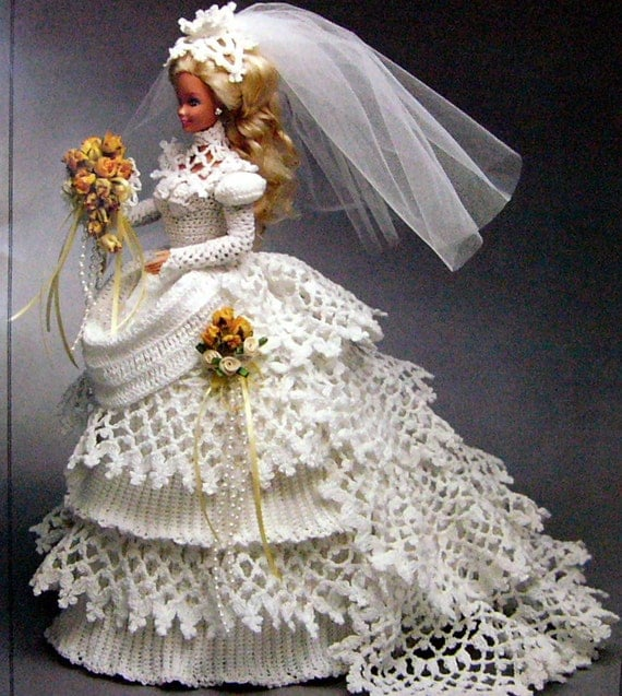 Barbie Doll Crochet Pattern For Bridal Wedding Gown PDF