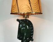 Mid-Century Green Unicorn Lamp