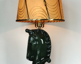 Mid-Century Green Unicorn Lamp