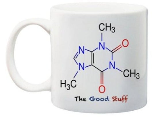 Caffeine Molecule Coffee Mug Science Geekery Teachers Gift