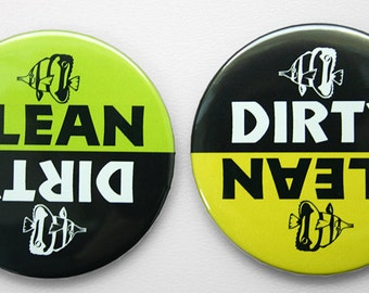 Dishwasher Magnet - Dirty or Clean - Fish