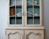 French Oak China Cabinet (RESERVED for Lynn)