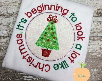 It's beginning to look a lot like Christmas - Appliqued and Personalized