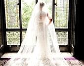 Extra full, extra wide - White, Ivory, Bridal Veil, Cathedral Veil, Chapel Length Veil, Fingertip Lengt