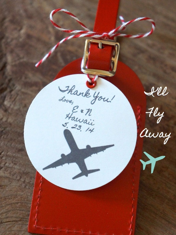 Wedding Favors Ill Fly Away Luggage Tag By Lovetravelsfavors