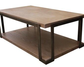 Organic Modern Industrial Coffee Table