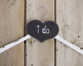 Bridal shower gift, wedding dress hanger with name, chalkboard, wedding chalkboard, wedding dress hanger, vintage wedding hanger