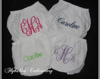 Set of 4 Personalized Baby Bloomers / Personalized Diaper Covers - Mix and Match