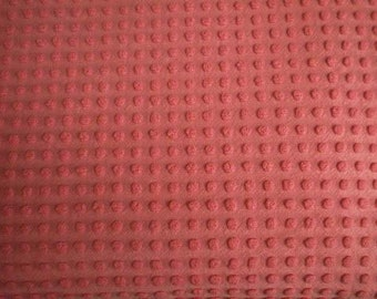 """Bates HOT PINK Chenille POPS Vintage Chenille Bedspread Fabric - 24"""" X 24"""""""