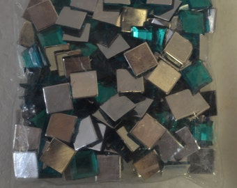 10MM Square Acrylic Jewel Green Color 1 Gross
