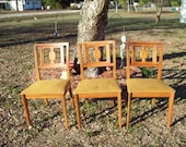 3 Mid Century Modern Drexel Danish Wood Chairs LOCAL PICK Up Only No SHipping