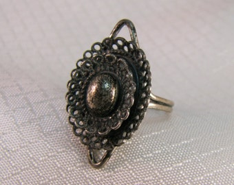 1950's Vintage BEAU Sterling Ring, Adjustable