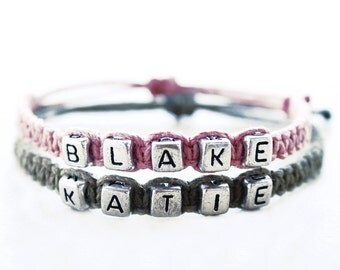 Couples Names Hemp Bracelets - Hemp Jewelry